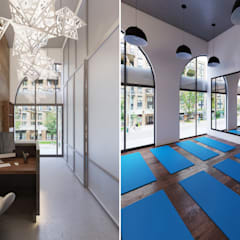 ​Interior Design and Rendering:  Gym by Design Studio AiD