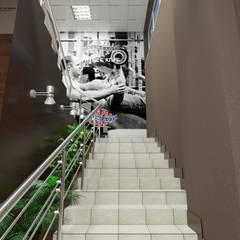 Фитнес центр: Коммерческие помещения в . Автор – Константин Паевский-PAEVSKIYDESIGN