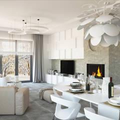 ludwinowska.pl: styl , w kategorii Pokój multimedialny zaprojektowany przez Ludwinowska Studio Architektury
