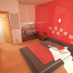 Camera da letto: Camera da letto in stile in stile Asiatico di StudioM&R
