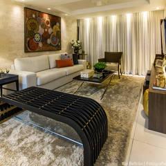 Apartamento, Maceió Al: Salas de estar  por Cris Nunes Arquiteta