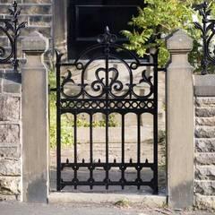 REYTAŞ DEMİR ÇELİK FERFORJE – Ferforje Bahçe Kapısı: rustik tarz tarz Evler