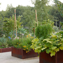 La Nature au centre de la construction:  Terrasse von Ecologic City Garden - Paul Marie Creation