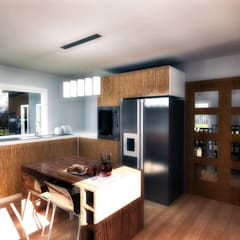 CASA 3N: Cocinas de estilo moderno por NidoSur Arquitectos