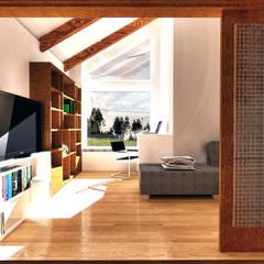 Diseño de Casa 3N en Valdivia por NidoSur Arquitectos: Estudios y biblioteca de estilo  por NidoSur Arquitectos - Valdivia