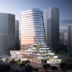 Gemdale Changshou Road:  Commercial Spaces by Aedas,