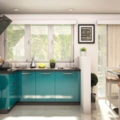 Ixia L-shaped Kitchen:  Kitchen by CapriCoast Home Solutions Private Limited,