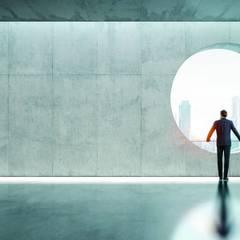 Ein Designboden aus Spachtelboden schafft neue Perspektiven und Wohngefühle:  Arbeitszimmer von Volimea GmbH & Cie KG