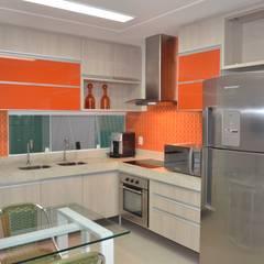 Residência, Maceió Al: Cozinhas clássicas por Cris Nunes Arquiteta