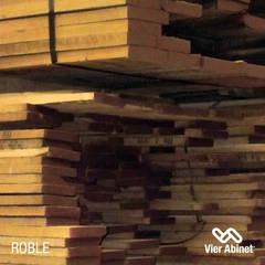 Maderas Aserradas: Paredes de estilo  por VIER ABINET S.A. Pisos & Decks