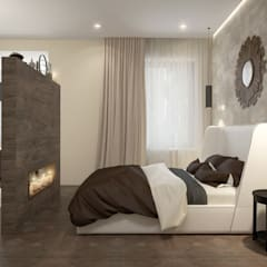 townhouse in modern style: modern Bedroom by design studio by Mariya Rubleva