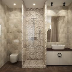 townhouse in modern style:  Bathroom by design studio by Mariya Rubleva