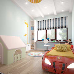 townhouse in scandinavian style: scandinavian Nursery/kid's room by design studio by Mariya Rubleva