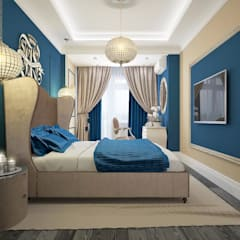 apartments in a classic style in Moscow : modern Bedroom by design studio by Mariya Rubleva