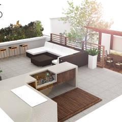ระเบียง, นอกชาน by SANT1AGO arquitectura y diseño