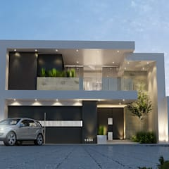 Fachada Principal: Casas de estilo  por Mstudio Arquitectura+Construccion