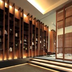 大廳牆面:  展覽中心 by Arcadian Design 冶鑄設計