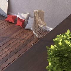 Sostituzione pavimento per un ambiente rustico : Pareti in stile  di Andrea Vani Designer