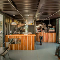 The Prep Room:  Gastronomy by JSD Interiors, Industrial Wood Wood effect