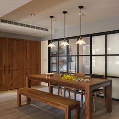 بلكونة أو شرفة تنفيذ 陶璽空間設計 , بحر أبيض متوسط