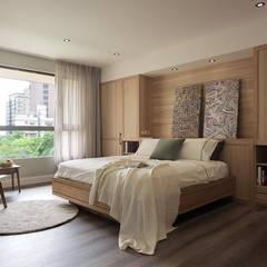 Dormitorios de estilo  por 陶璽空間設計