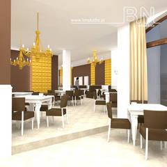 Kawiarnia w Czechowicach - Dziedzicach: styl , w kategorii Gastronomia zaprojektowany przez BN STUDIO Barbara Wójcik