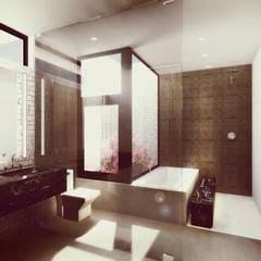 Baño Principal: Baños de estilo  por Estudio Volante