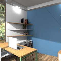 Clamart (bureau de jardin): Bureau de style de style Scandinave par deSYgn by JM2