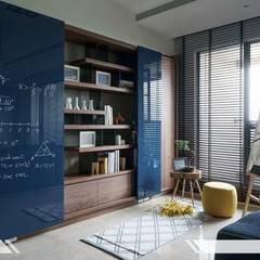 現代風 Modern Style:  客廳 by iDiD點一點設計
