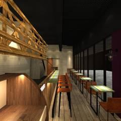 比利時連鎖餐飲.大直旗艦店.3D圖:  酒吧&夜店 by 東之光室內裝修設計有限公司