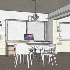Apartment in Amsterdam Zuid! : scandinavische Eetkamer door MEL design_
