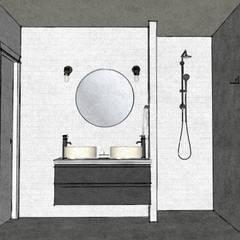 Apartment in Amsterdam Zuid! :  Badkamer door MEL design_