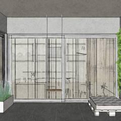 Apartment in Amsterdam Zuid! :  Terras door MEL design_