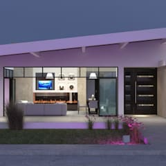 Vivienda Unifamiliar Sostenible - Arquitectura Positiva & Sumart Diseño : Casas de estilo  por Arquitectura Positiva , Ecléctico