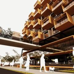 Perspectiva General: Casas de estilo  por AbiOS Estudio de Arquitectura