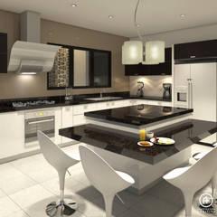 Cocina Principal : Cocinas de estilo  por Arquitectura Positiva