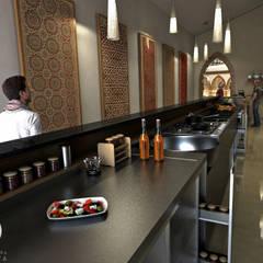 Remodelación de Restaurante Árabe Aceituna : Pasillos y vestíbulos de estilo  por Arquitectura Positiva , Ecléctico