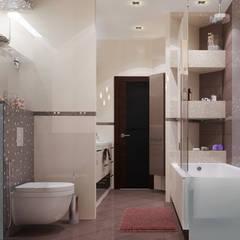 Проект интерьера квартиры. Современный стиль. 100м2.: Ванные комнаты в . Автор – Vera Rybchenko