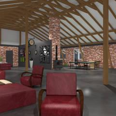 SALA KLUBOWA: styl , w kategorii Bary i kluby zaprojektowany przez ABC Pracownia Projektowa Bożena Nosiła
