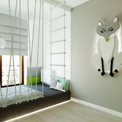 ห้องนอนเด็ก โดย living box,