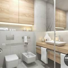 Jasna, rozświetlona łazienka: styl , w kategorii Łazienka zaprojektowany przez MONOstudio