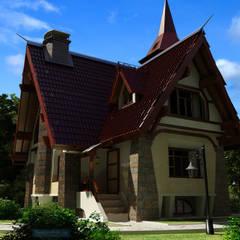 Дом в стиле шале: Дома в . Автор – Студия интерьера Дениса Серова