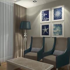 Pıcco Desıgn & Archıtecture – Baia Hotel: akdeniz tarzı tarz Yatak Odası