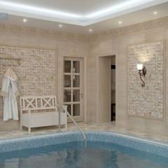 Дизайн-проект дома в стиле прованс площадью 300 кв.м: Бассейн в . Автор – Студия интерьера Дениса Серова