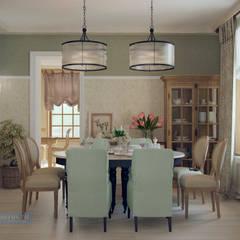Dining room by Студия интерьера Дениса Серова