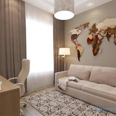 Дизайн проект 3 этажного коттеджа300 кв м: Рабочие кабинеты в . Автор – Студия интерьера Дениса Серова
