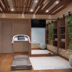 Дизайн проект дома 250 квм в современном стиле для семьи с двумя детьми: Медиа комнаты в . Автор – Студия интерьера Дениса Серова