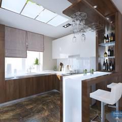 Дизайн-проект частной дачи площадью 150 кв м: Кухни в . Автор – Студия интерьера Дениса Серова