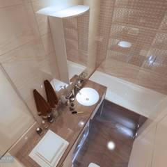 Дизайн ванной 3,5 кв метров: Ванные комнаты в . Автор – Студия интерьера Дениса Серова