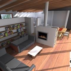 Vivienda 212 m2: Livings de estilo  por Cuarta Costa